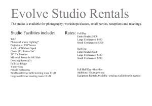 Studio Rental1